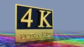 Ultra icono de HD 4K Imagen de archivo