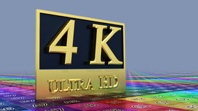 Ultra Ikone HD 4K Stockbild
