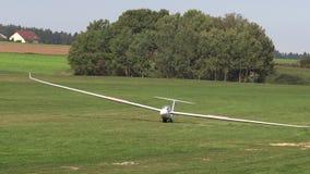 Ultra lichte gelande vliegtuigen stock videobeelden