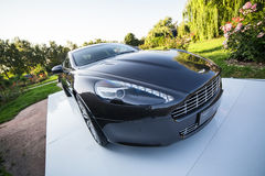 Ultra Luxury Sport Car Stays Outdoor In Ukraine (Exterior). (Photo stock photo