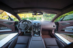 Ultra Luxury Sport Car Stays Outdoor In Ukraine (Interior) Royalty Free Stock Photography