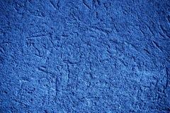Ultra marina tynku betonu tekstura, kamień powierzchnia, kołysa krakingowego tło dla pocztówki Fotografia Royalty Free