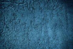 Ultra marina tynku betonu tekstura, kamień powierzchnia, kołysa krakingowego tło dla pocztówki Obraz Stock