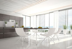 Ultra Modern Design Kitchen | Interior Architecture Stock Photography