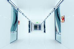 Ultra Modern Futuristic Building Corridor Illustration Stock Photo