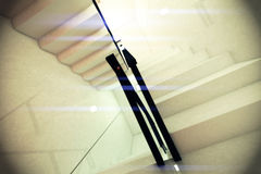 Ultra Modern Futuristic Building Emergency Staircase Illustration Stock Photo