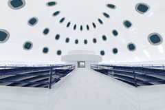 Ultra Modern Futuristic Data Center Illustration Royalty Free Stock Photo