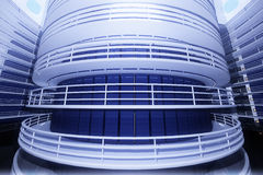Ultra Modern Futuristic Data Center Illustration Royalty Free Stock Photography