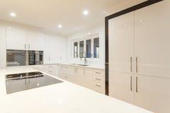Ultra modern kitchen Stock Photos