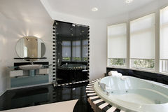 Ultra modern master bath Stock Image