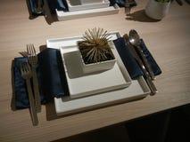 Ultra Modern Tableware Stock Photography