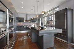 Ultra moderne keuken Royalty-vrije Stock Fotografie