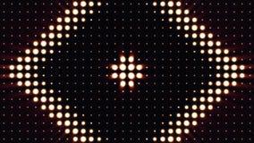 Ultra Musik-Festivalhintergrund Helle Flutlichter, die die Formung von verschiedenen Formen ein- und ausschalten Mehrfarbenbeleuc Lizenzfreie Stockfotografie