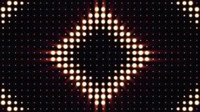 Ultra Musik-Festivalhintergrund Helle Flutlichter, die die Formung von verschiedenen Formen ein- und ausschalten Mehrfarbenbeleuc Stockbild