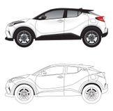 Ultra Nowożytny sport użyteczność pojazdu SUV samochodu wektor Obraz Stock