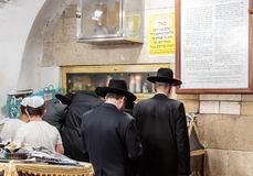 Ultra Orthodox Jews pray at the grave of Rabbi Shimon-Bar Yochai Royalty Free Stock Image