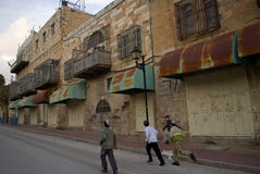 Ultra-orthodox Joods kwart, Hebron, Palestina Stock Fotografie