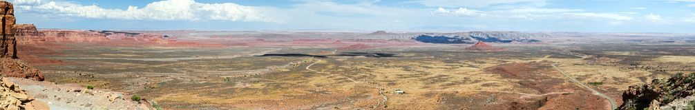 Ultra panorama alto do deserto do res E.U. do tela panorâmico fotografia de stock