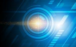 Ultra papier peint de technologie de Sci fi d'abrégé sur HD illustration libre de droits