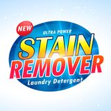 Ultra power laundry detergent product packaging design Stock Photography