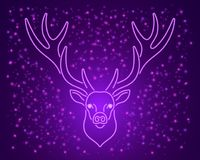 Ultra purpurowy neonowy rogacz, wektor Fotografia Royalty Free