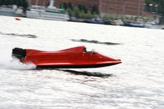 Ultra Speed Boat. A super fast boat in action Stock Images