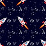 Ultra speed 5G technology. 5g telecommunication with rocket and apps icon Seamless pattern royalty free illustration