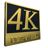 Ultra symbol för HD 4K Arkivfoto
