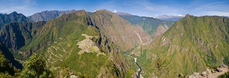Ultra szeroka panorama Mach Picchu Obraz Royalty Free
