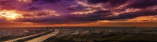 Ultra szeroki panoramiczny widok Wiedeń Austria Obraz Royalty Free