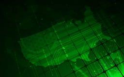 Ultra tapet för översikt för HD-abstrakt begreppSci Fi Amerikas förenta stater Arkivbild