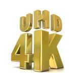 Ultra technologie de résolution de HD concept 4K illustration libre de droits