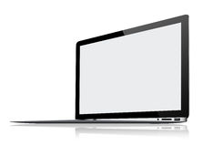Ultra Thin Laptop  on white Stock Photos