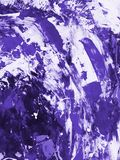 Ultra Violet abstract hand painted background, texture painting. Ultra Violet abstract hand painted background, close-up of acrylic painting on canvas Stock Photo