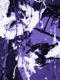 Ultra Violet abstract hand painted background, texture painting. Ultra Violet abstract hand painted background, close-up of acrylic painting on canvas Royalty Free Stock Photography