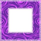 Ultra violet border-06. Frame with abstract hand background. Design element for photo frames and home decor stock illustration