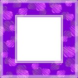 Ultra violet border-10. Frame with abstract hand background. Design element for photo frames and home decor stock illustration