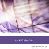 Ultra Violet Color av året - arkitektoniskt abstrakt begrepp Royaltyfria Bilder