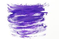 Ultra violet color paint smear. Top view. Ultra violet color paint smear. flat lay royalty free stock image
