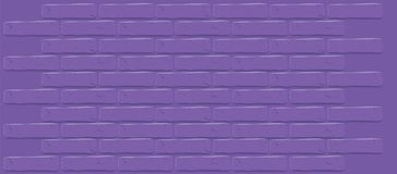 Ultra Violet color of the year 2018. Purple brick wall texture. Cracked empty background. Grunge dark wallpaper. Vintage stonewall. Room design interior. Basic Stock Photo