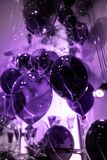 Ultra Violet Cristal balloons background royalty free stock photos