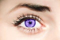 Ultra Violet eye stock photos