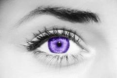 Ultra Violet eye stock images