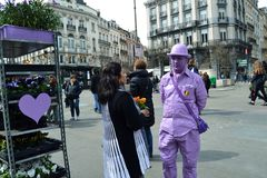 Ultra Violet Florist At Place De La Bourse In Brussels