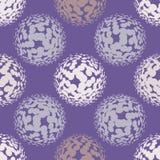 Ultra violet halftone circles seamless pattern. Vector illustration Stock Photos