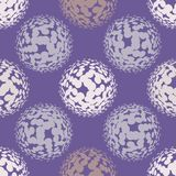 Ultra violet halftone circles seamless pattern. Vector illustration Stock Images