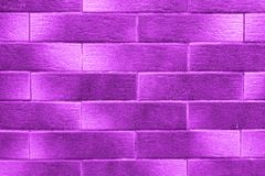 Ultra Violet Gradient Bricks. Textured wallpaper pattern. Ultra Violet horizontal Bricks with gradient. Textured wallpaper pattern Stock Images