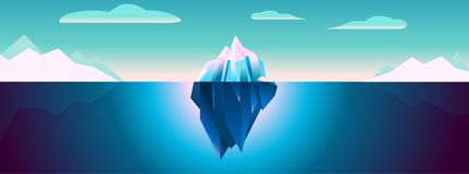 Ultra Violet Iceberg Background Polar Landscape ilustração royalty free