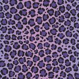 Ultra violet leopard vector seamless pattern Stock Photography