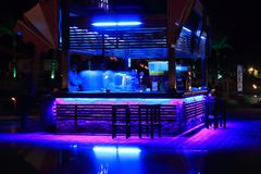 Ultra violet light is inviting night bar